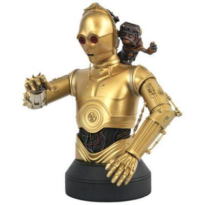 Star Wars  buste 1/6 C-3PO & Babu Frik 15 cm