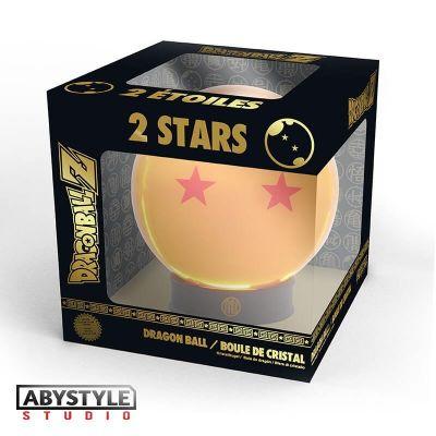 DRAGON BALL - Boule de cristal 2 étoiles 75 mm + socle