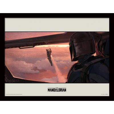 Star wars The Mandalorian Cadre collector Fly 30x40cm