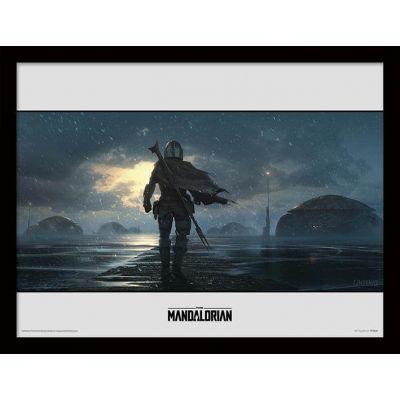 Star wars The Mandalorian Cadre collector Alone 30x40cm