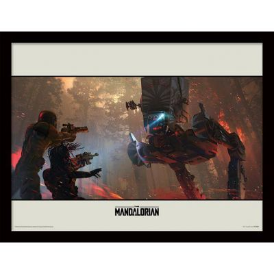 Star wars The Mandalorian Cadre collector At-st 30x40cm