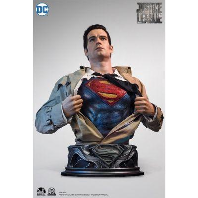"""""""Réservation Acompte"""" Justice League - Superman 1/1 Buste Infinity Studio"""