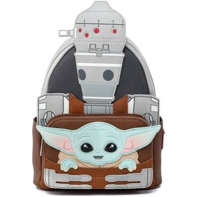 Disney by Loungefly sac à dos Star Wars The Mandalorian The Child and IG-11 Exclusif