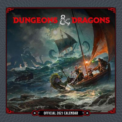 Dungeon & Dragons Posters calendrier 2021 *ANGLAIS*