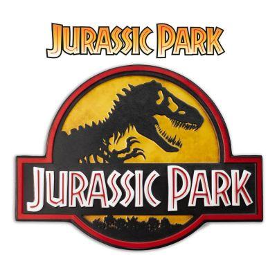 Jurassic Park panneau métal Logo