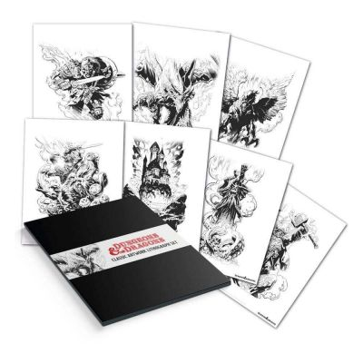 Dungeons & Dragons set 7 lithographies 36 x 28 cm