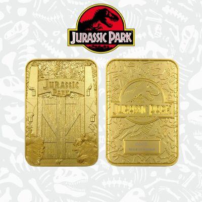 Jurassic Park réplique Metal Entrance Gates (plaqué or)