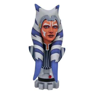 """""""Réservation Acompte"""" Star Wars The Clone Wars Legends in 3D buste 1/2 Ahsoka Tano 25 cm"""