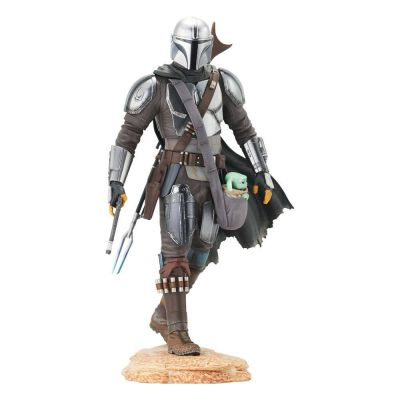 Star Wars The Mandalorian statuette Premier Collection 1/7 The Mandalorian with The Child 25 cm