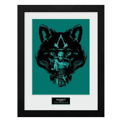 Assassins Creed Valhalla poster encadré Collector Print Wolf
