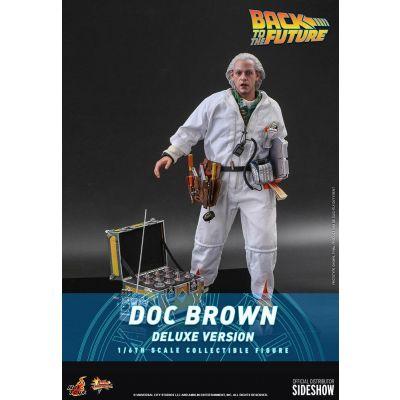 """""""Réservation Acompte"""" Retour vers le futur figurine Movie Masterpiece 1/6 Doc Brown (Deluxe Version) 30 cm"""