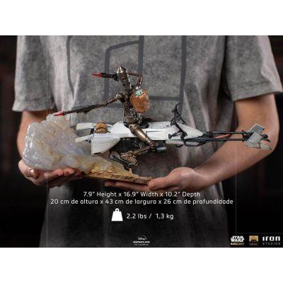 "Réservation Acompte"" Star Wars The Mandalorian statuette 1/10 Deluxe Art Scale IG-11 & The Child 20 cm"