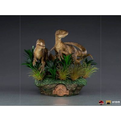 Jurassic Park Statuette 1/10 Deluxe Art Scale Just The Two Raptors 20 cm