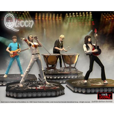 Queen pack 4 statuettes Rock Iconz Limited Edition 23 - 25 cm