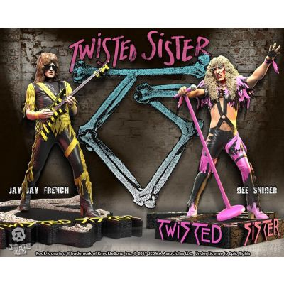 Twisted Sister pack 2 statuettes Rock Iconz Dee Snider & Jay Jay French Limited Edition 22 cm