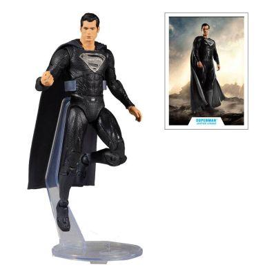 DC Justice League Movie figurine Superman Black Suit 18 cm
