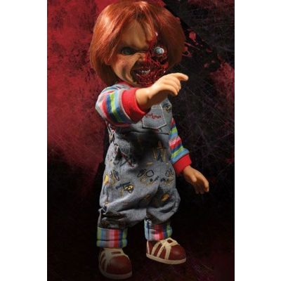 Chucky Jeu d´enfant 3 poupée parlante Designer Series Pizza Face Chucky 38 cm