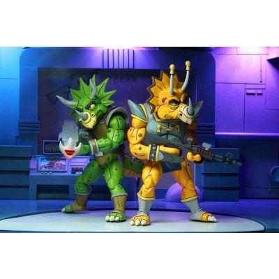 Les Tortues ninja pack 2 figurines Captain Zarax & Zork 18 cm