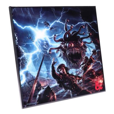 Dungeons & Dragons décoration murale Crystal Clear Picture Monster Manual 32 x 32 cm