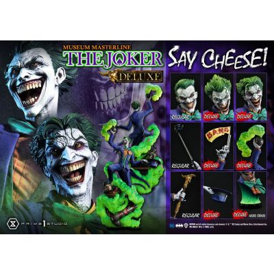 """""""Réservation Acompte"""" DC Comics statuette 1/3 The Joker Say Cheese Deluxe Bonus Version 99 cm"""