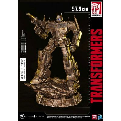 Transformers: G1 statuette Optimus Prime Antique Gold 58 cm