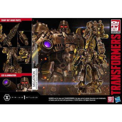 """""""Réservation Acompte"""" Transformers: G1 statuette Megatron Antique Gold 60 cm"""