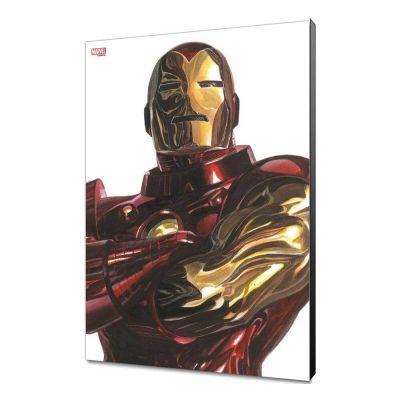 Marvel Avengers Collection tableau en bois Alex Ross - Iron Man  30 x 45 cm
