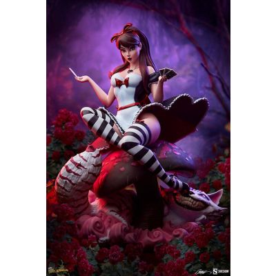 """""""Acompte Réservation"""" Fairytale Fantasies Collection statuette Alice in Wonderland Game of Hearts Edition 34 cm"""