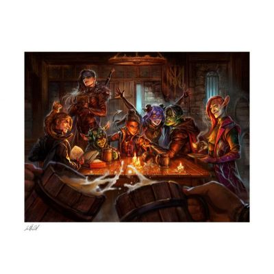 Critical Role impression Art Print The Mighty Nein: This is How We Roll! 46 x 57 cm - non encadrée