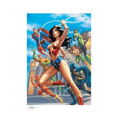 DC Comics impression Fine Art Print Premium Wonder Woman #750 B - Hall of Justice 46 x 61 cm