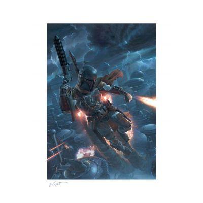 Star Wars impression Art Print The Mercenary 46 x 61 cm - non encadrée